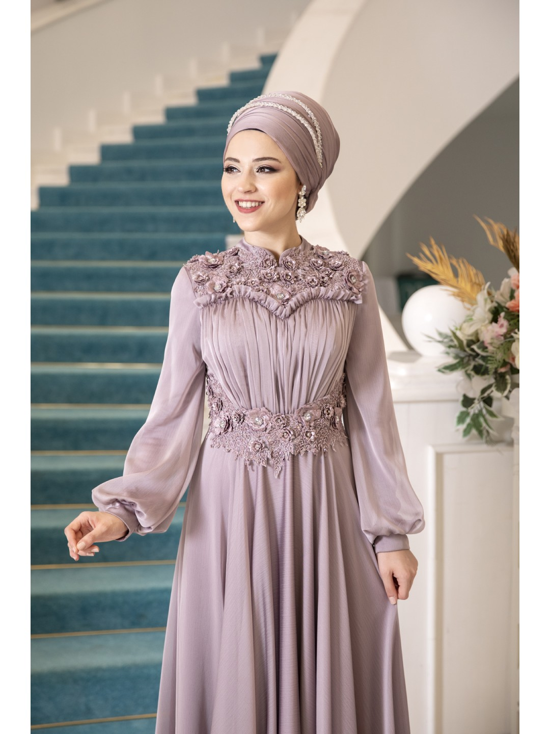 ALYANS-EVENİNG-DRESS-ROSE