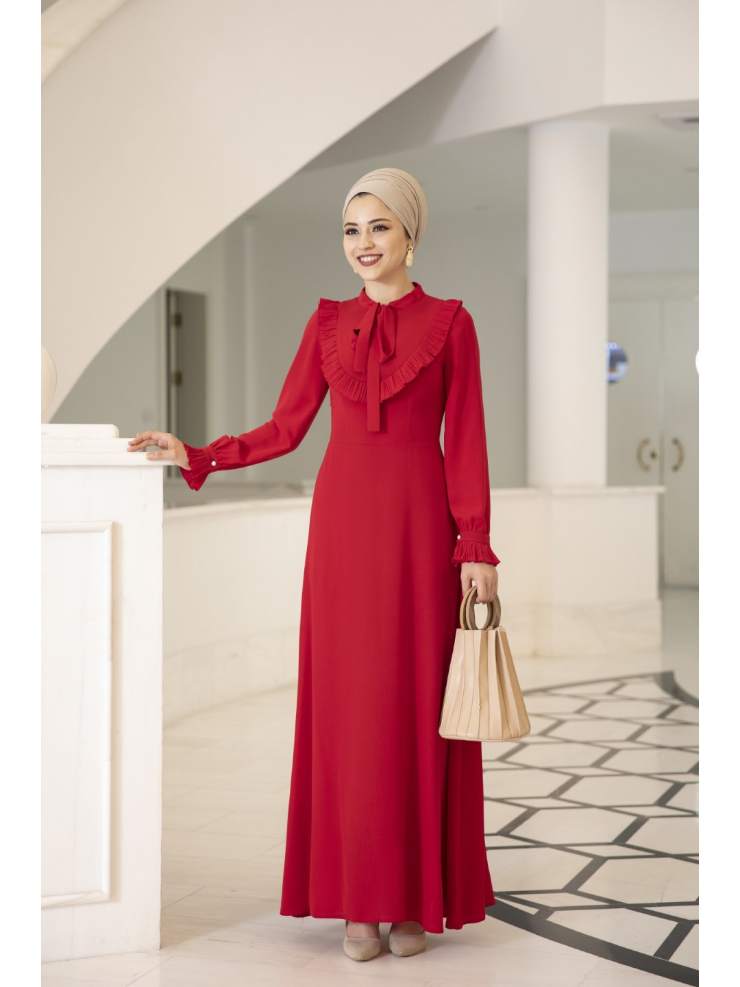 Irmak-Dress-Red
